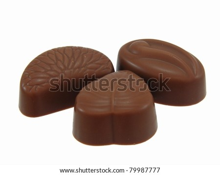 Chocolates on a white background - stock photo