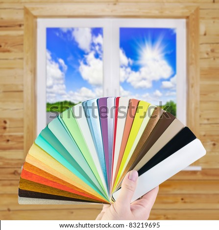 choice of blinds for windows - stock photo