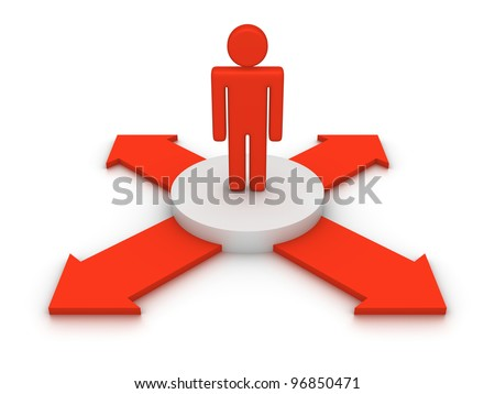 Choice of directions - stock photo