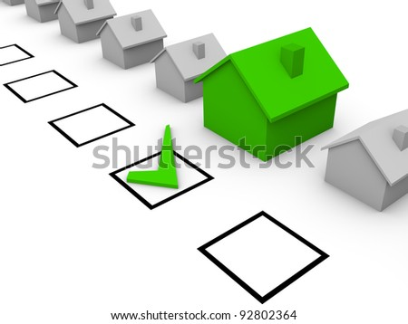 Choice of house - stock photo