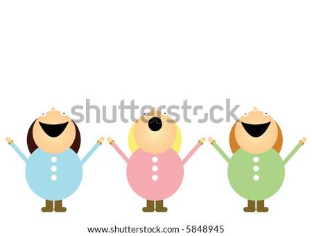 Choirgirls - stock photo