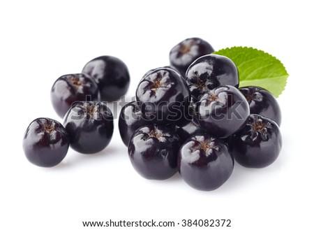 Chokeberry. Berries for health  - stock photo