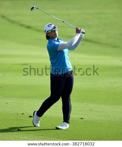 CHON BURI, THAILAND - FEBRUARY 26: Amy Yang of South Korea in action during the 2016 Honda LPGA Thailand at Siam Country Club  2016 on February 26, 2016 in Chon Buri, Thailand