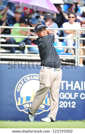 CHONBURI, THAILAND - DECEMBER 8 : Unidentified athlete in The Golf Championship Thailand Round 3 at Ammata Spring Country Club on December 8, 2012 in Chonburi, Thailand. - stock photo