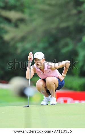CHONBURI, THAILAND - FEB 18: Michelle Wie in action during Honda LPGA Thailand 2012, at Siam Country Club Pattaya, February 18, 2012 in Chonburi, Thailand.