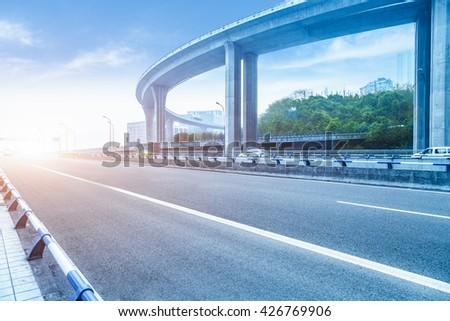 chongqing flyover - stock photo