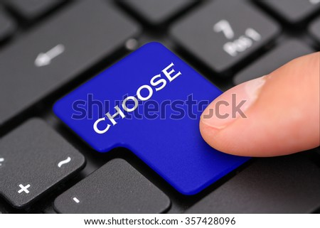 Choose - stock photo