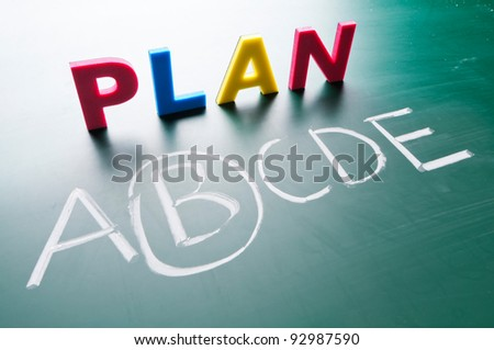 Choose a best choice, hand writing words on blackboard - stock photo