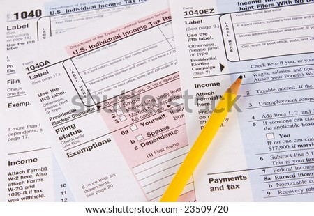 Choose form 1040, 1040A or 1040EZ to do your tax return