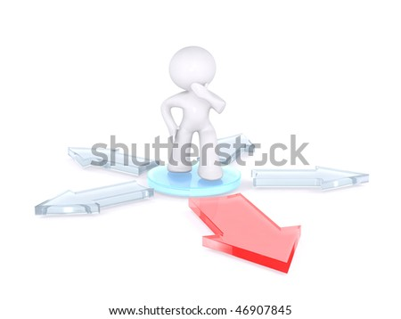 Choosing the right path - stock photo