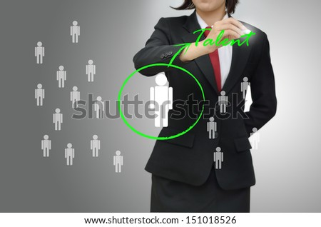 Choosing the talented person for hiring - stock photo