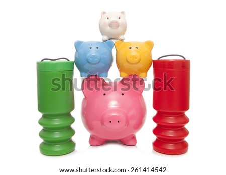 choosing to save or donate to charity cutout - stock photo