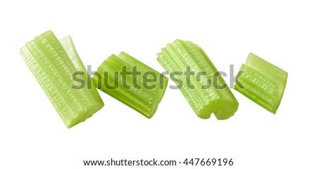 chopped celery stems - stock photo