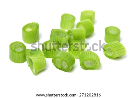 chopped green onions - stock photo