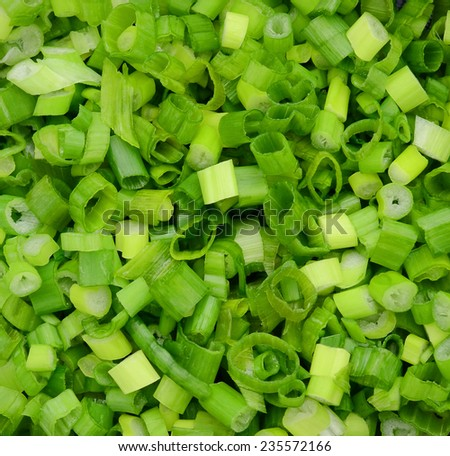 chopped green onions on background  - stock photo