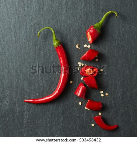 Chopped red chilli pepper