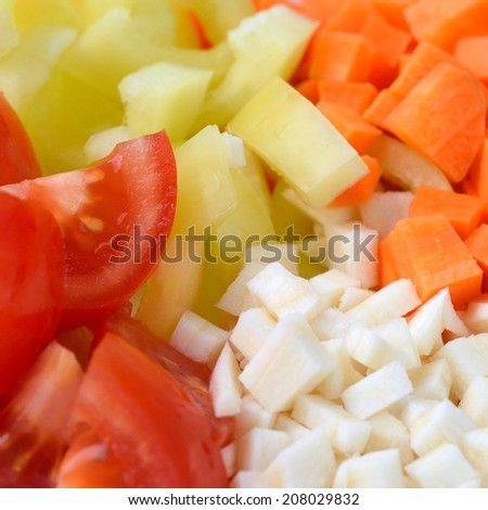 chopped vegetables - stock photo