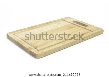 chopping board on white background