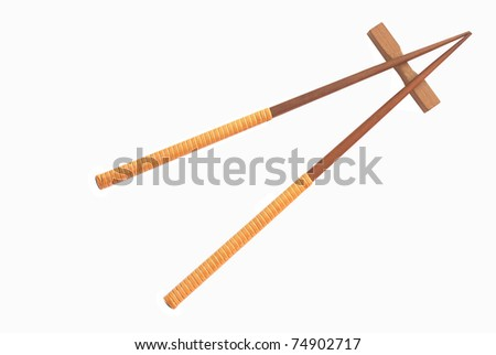 Chopsticks isolated on white