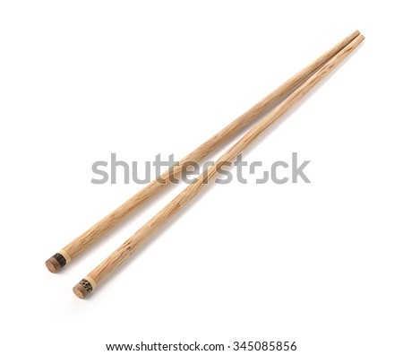 chopsticks isolated on white background.
