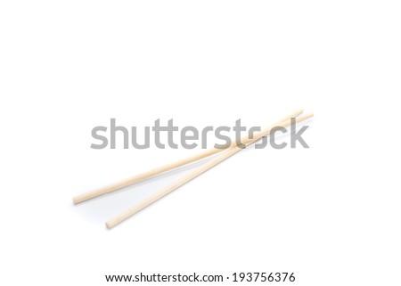 chopsticks on a white background  - stock photo