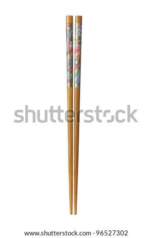 Chopsticks on White Background - stock photo