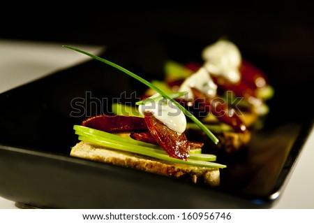 Chorizo Tapa - stock photo