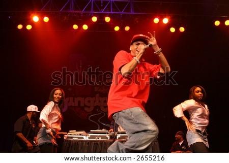 """Chris Brown, Kiss 108 """"Jingle Ball""""  December 14th, 2006, Tsongas Arena, Lowell, MA - stock photo"""