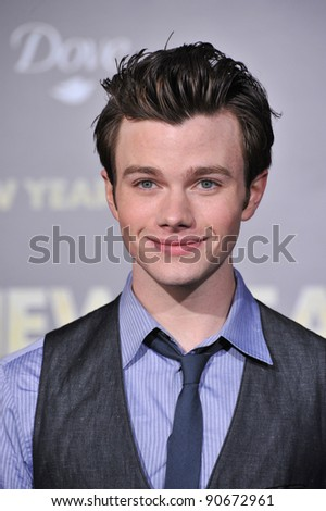 "Chris Colfer at the world premiere of ""New Year's Eve"" at Grauman's Chinese Theatre, Hollywood. December 5, 2011  Los Angeles, CA Picture: Paul Smith / Featureflash - stock photo"