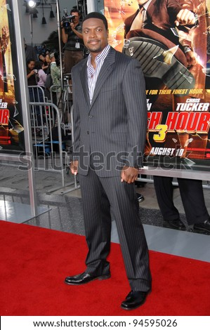"Chris Tucker at the Los Angeles premiere of ""Rush Hour 3"" at Grauman's Chinese Theatre, Hollywood. July 31, 2007  Los Angeles, CA Picture: Paul Smith / Featureflash - stock photo"
