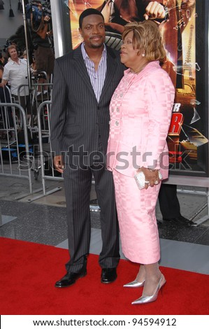 "Chris Tucker & mother Mary Tucker at the Los Angeles premiere of ""Rush Hour 3"" at Grauman's Chinese Theatre, Hollywood. July 31, 2007  Los Angeles, CA Picture: Paul Smith / Featureflash"