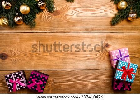 Chrismas gift  - stock photo
