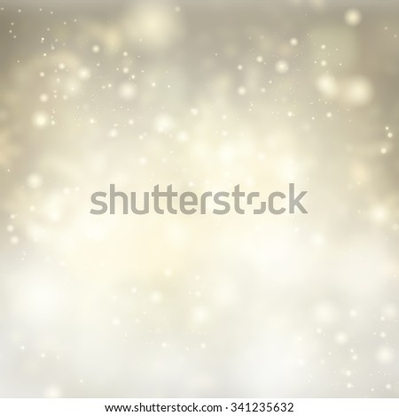 chrismas silver  background with snow and bright  sparkles  - stock photo