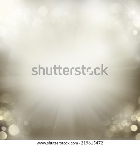 chrismas silver gray  background with bright  sparkles and lights - stock photo