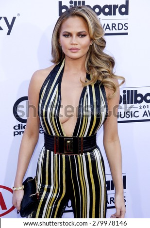 Chrissy Teigen at the 2015 Billboard Music Awards held at the MGM Garden Arena in Las Vegas, USA on May 17, 2015. - stock photo