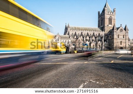 Christ Church Cathedral, Dublin - stock photo