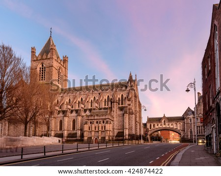 Christ Church Cathedral is located in Dublin Ireland.