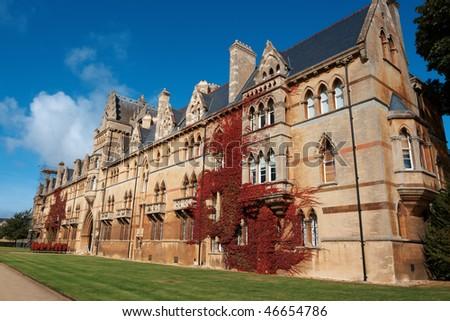 Christ Church College, Oxford University, UK - stock photo