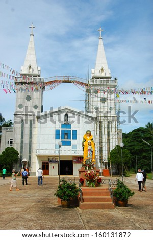 Christ church in the north east of Thailand - stock photo