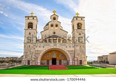 Christ's Resurrection church in Podgorica,Montenegro - stock photo