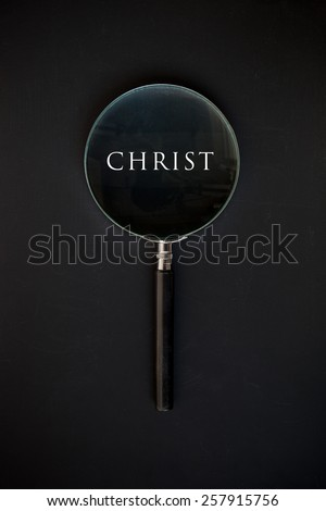 Christ word - stock photo
