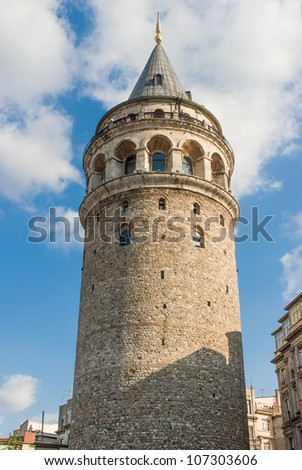 Christa Turris (Galata) Tower in Istanbul - stock photo
