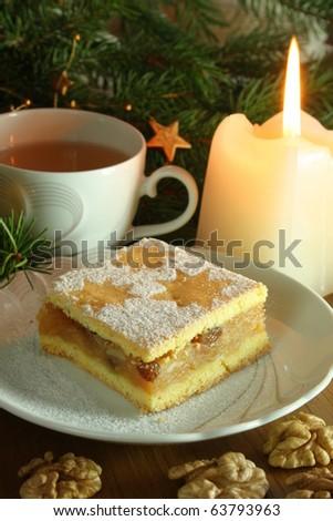 Christams cake - stock photo
