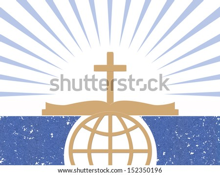 Christian abstract design - stock photo