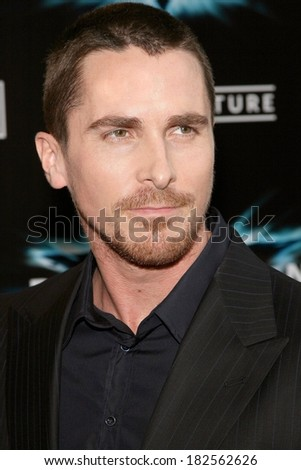 Christian Bale at THE DARK KNIGHT World Premiere, AMC Loews Lincoln Square IMAX Theatre, New York, NY, July 14, 2008 - stock photo