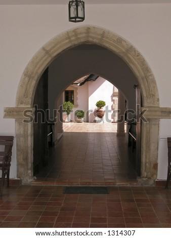 Christian church entrance - stock photo