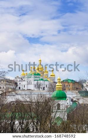 Christian church. Kiev Pecherskaya Lavra - stock photo