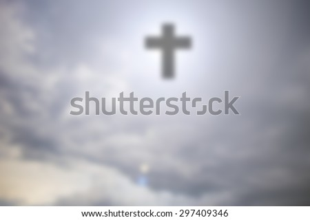 Christian cross in the sky.