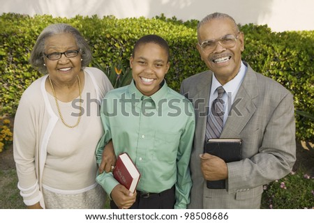 Christian Grandparents and Grandson - stock photo