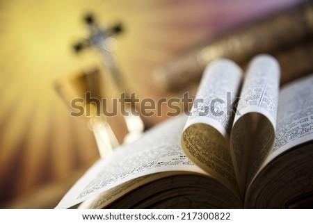 Christian holy communion  - stock photo
